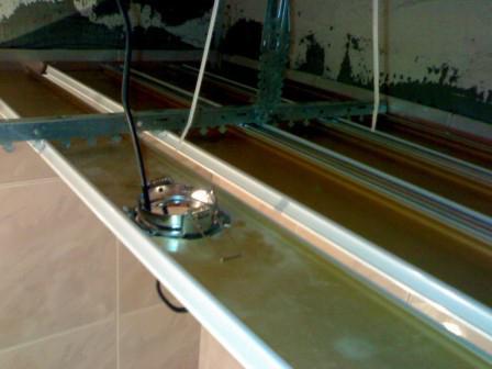 монтаж светильников в реечный потолок