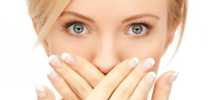 запах изо рта обложенный язык