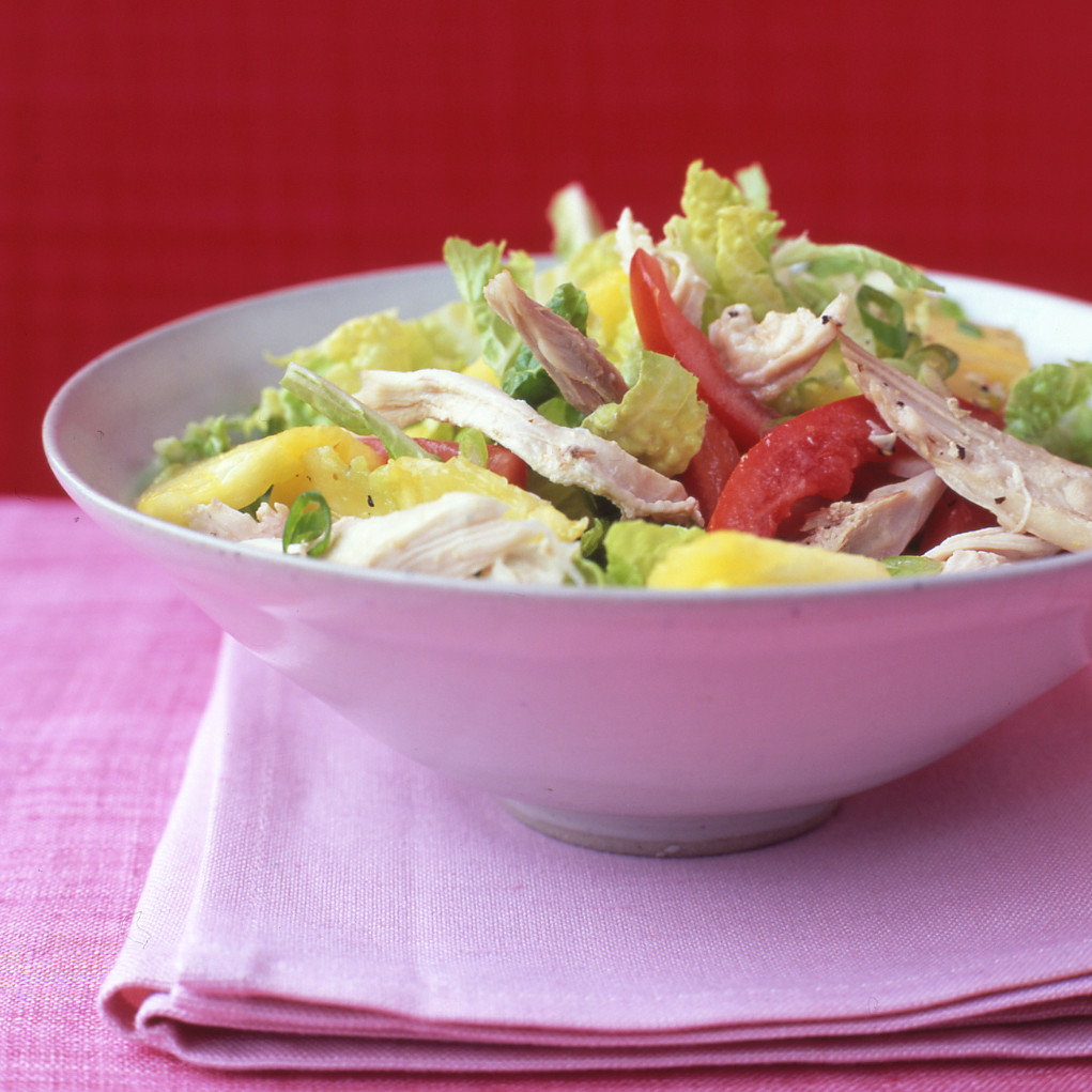 salad with mushrooms and pineapple and cheese