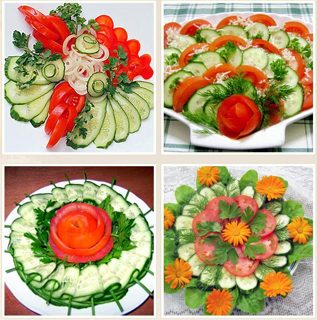 Как красиво нарезать овощи на стол в  755
