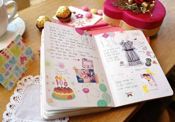 Оформление дневника для девочек своими руками внутри