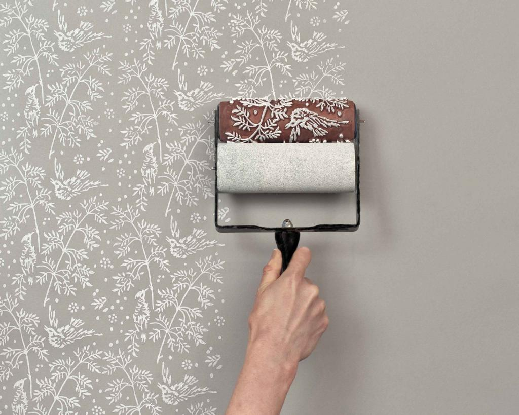 how to paint wall wallpaper in an apartment