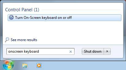 экранная клавиатура как включить