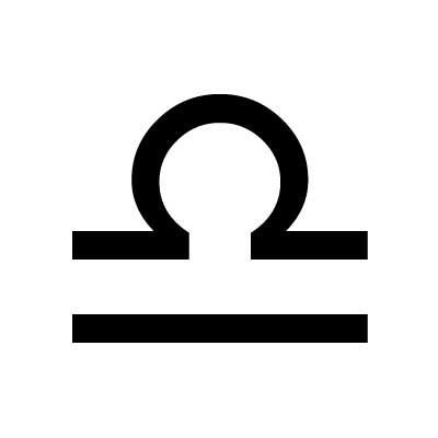 знак зодиака весы символ