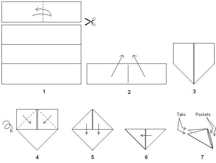 поделки из бумаги модули
