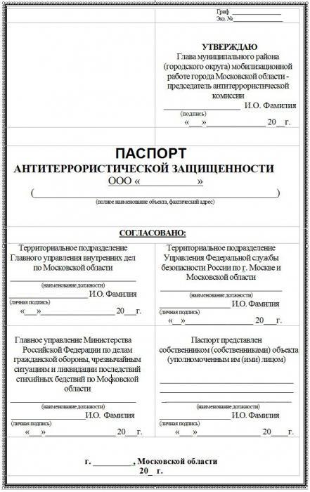 Инструкция по антитеррористической защищенности