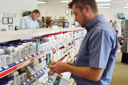 выкладка товара в аптеке