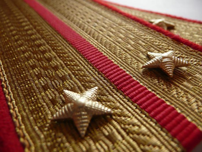 золотые звезды на погоны