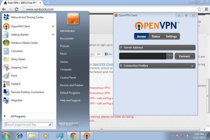 Fortinet ssl vpn client stuck at 98