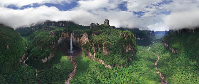 Координаты анхель водопада