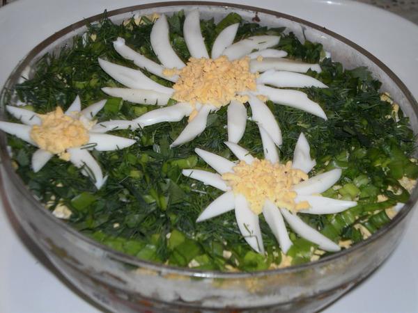 печеночный салат слоеный рецепт