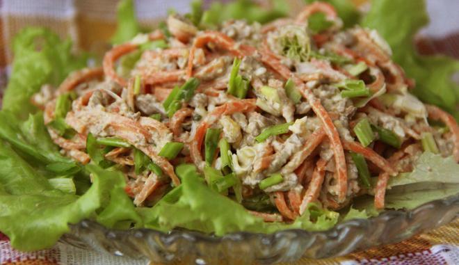 печеночный салат рецепт с морковью и