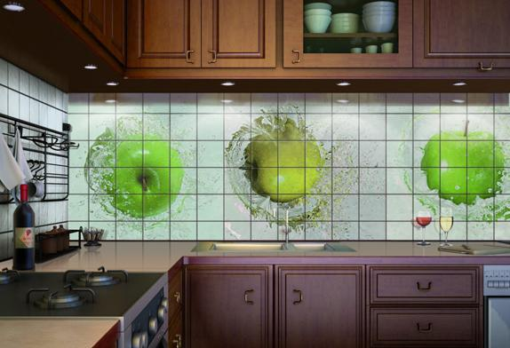 Фартук из плитки на кухню