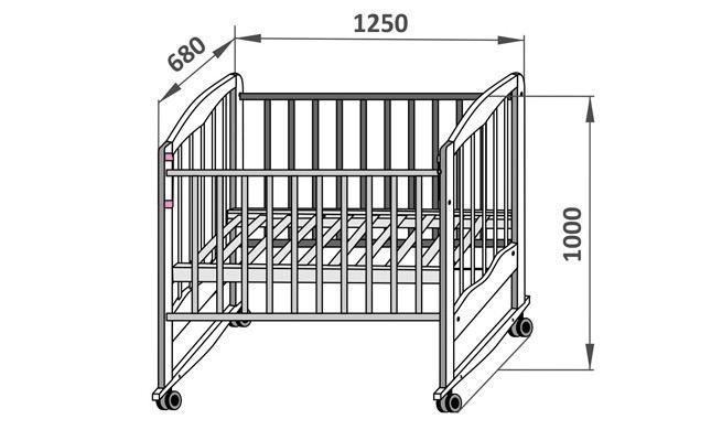 Вместе с ламелями внешний размер кровати составит х68 сантиметров, что нужно учитывать, подбирая место установки кровати в комнате.