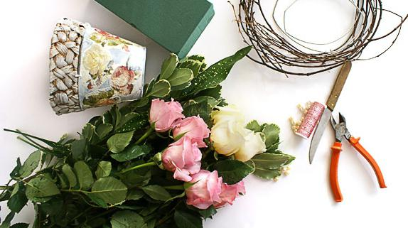 мастер класс корзинка с цветами