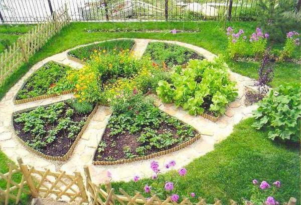 оформление огорода своими руками фото