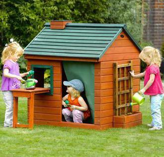 Деревянный детский домик своими руками для дачи