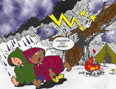 безопасное поведение во время грозы