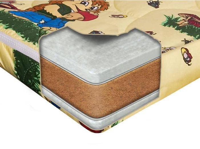 беспружинный матрас кокосовая койра латекс