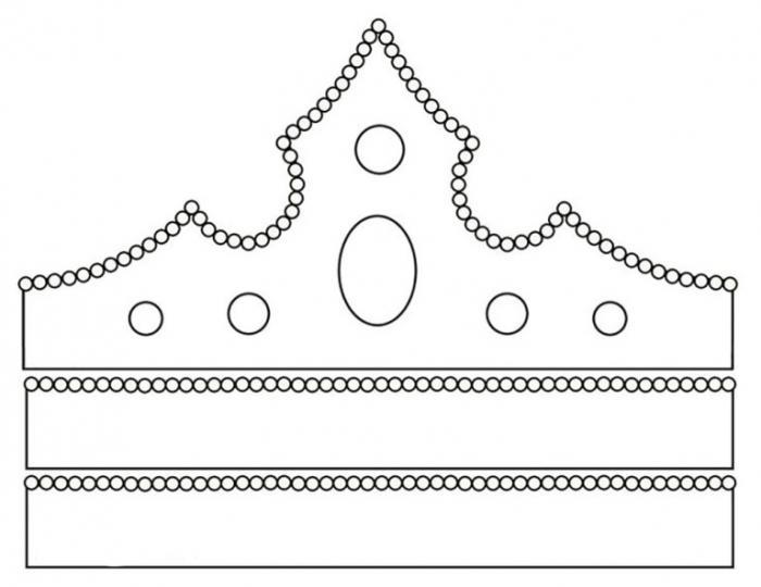 Шаблон короны принцессы своими руками фото 863