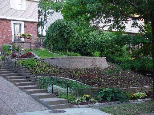 Входная зона к дому в саду