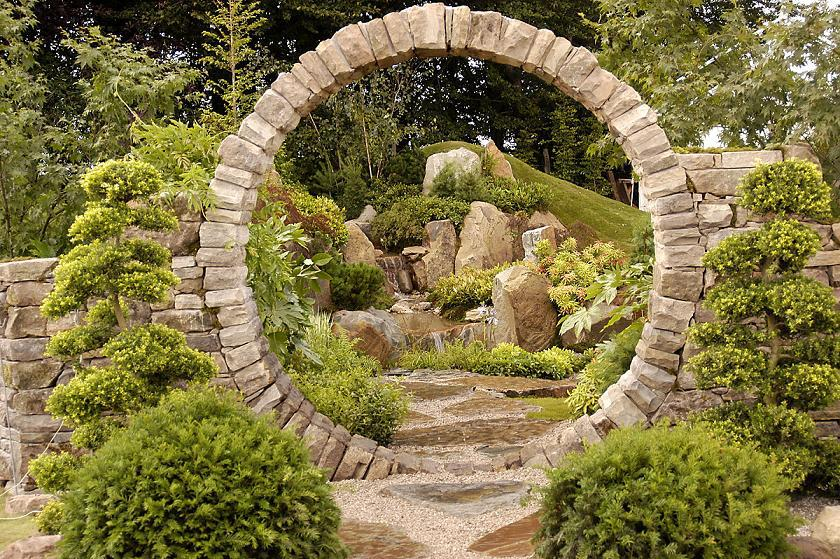 Stone arch for the garden