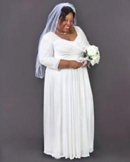 Как выбрать свадебное платье для полных невест