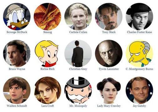самые богатые вымышленные персонажи