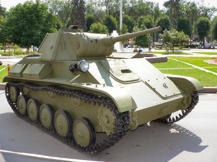 Т -70 (танк): история. Технические свойства, описание, фото…