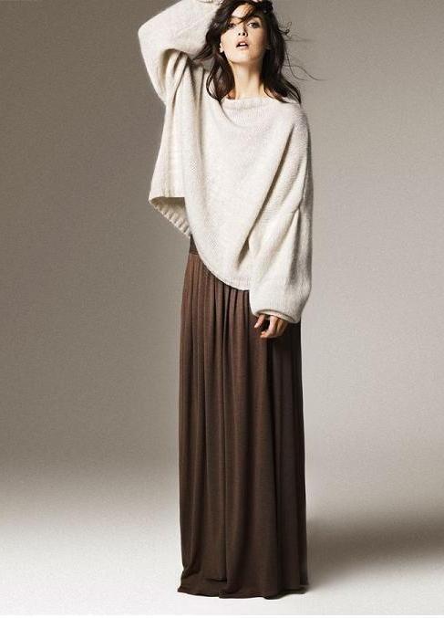 как сшить длинную юбку в пол