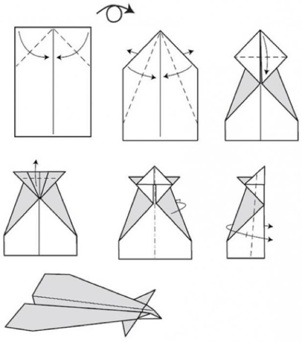 бумажные самолеты схемы