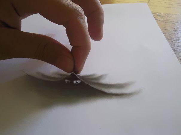 Пошаговые рисунки в фото на бумаге