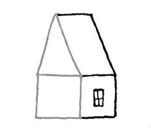 как нарисовать деревянный дом