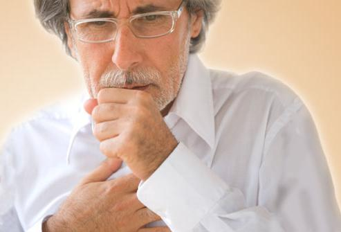 В области груди когда кашлю