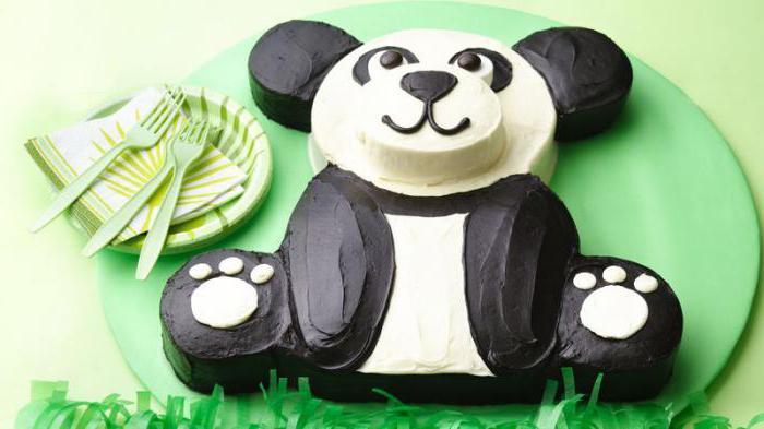 Торт Панда своими руками без мастики