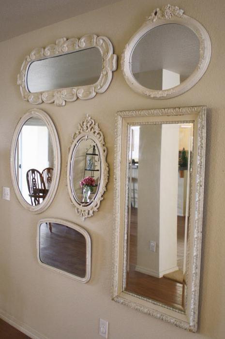 как правильно повесить зеркало