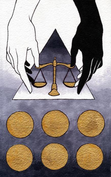 Шестерка Пентаклей: значение и толкование