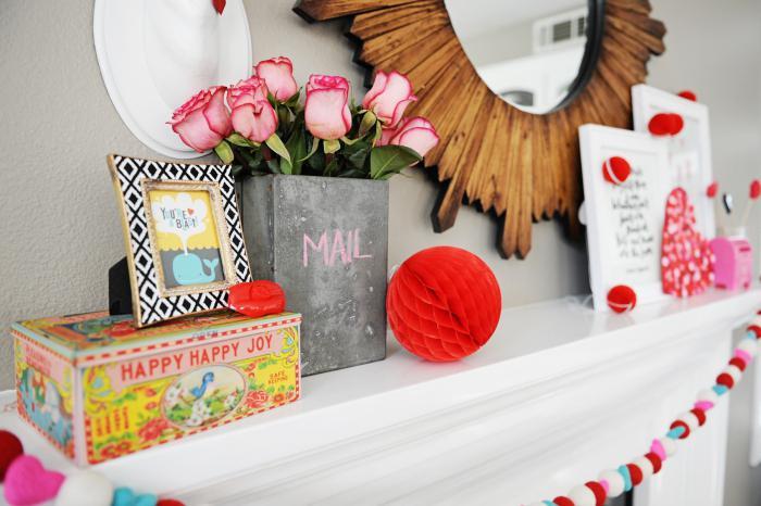 как украсить комнату на 14 февраля фото