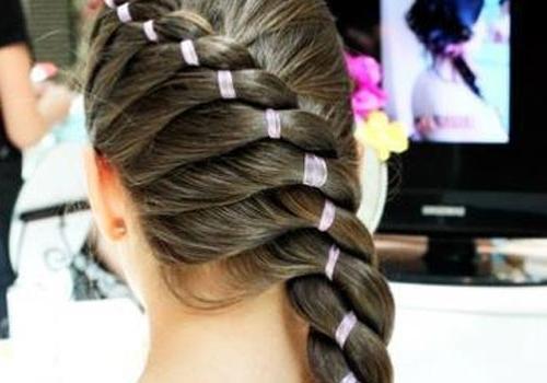 лента в косе пошаговая инструкция