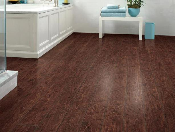 Inexpensive bathroom flooring ideas wood floors for Economical flooring options