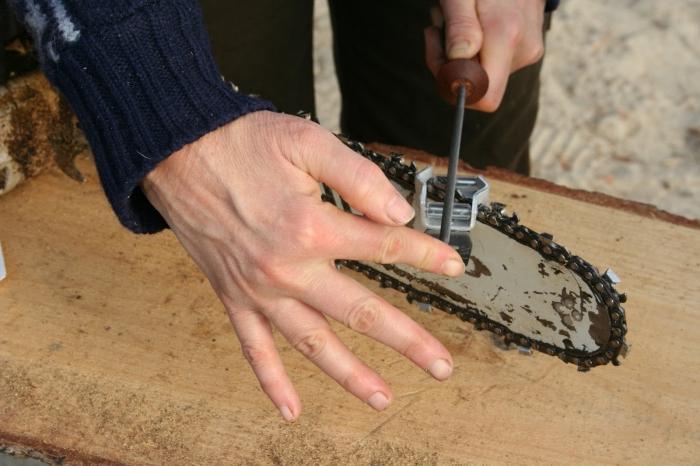 Как заточить цепь электропилы 161