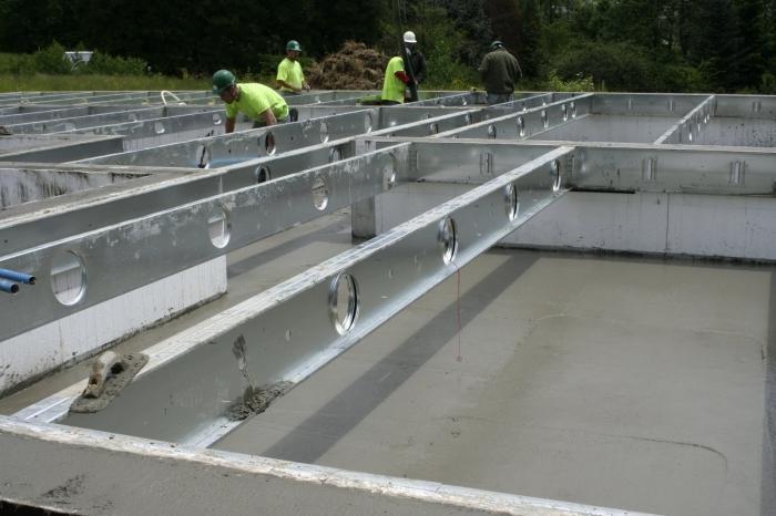 Заливка бетона своими руками в 67