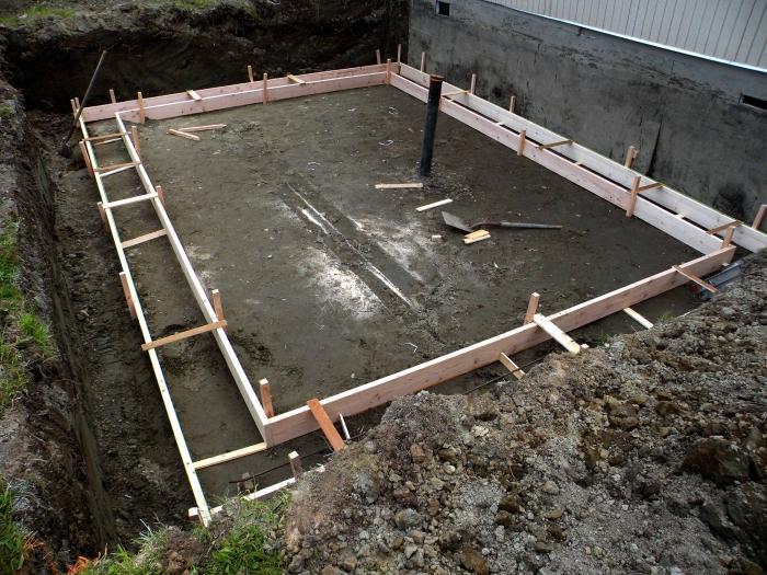 Как залить фундамент под готовый дом