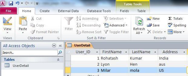 базы данных access примеры