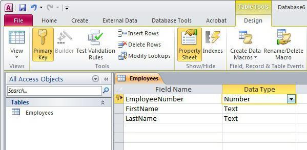 создание базы данных ms access