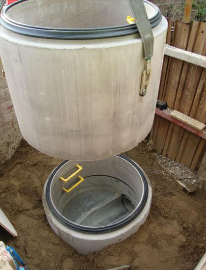 Кольца бетонные для канализации размеры