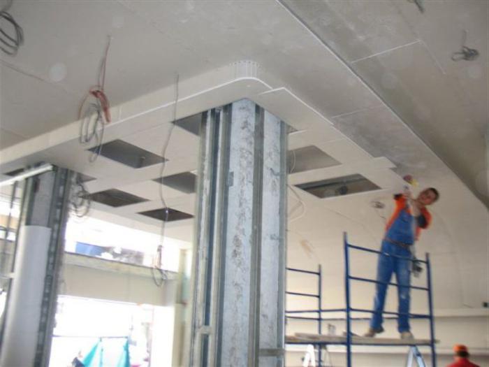 фигурный потолок из гипсокартона на кухне фото