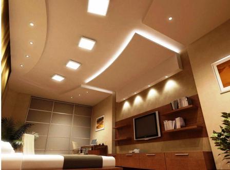 фигурный потолок из гипсокартона своими руками фото
