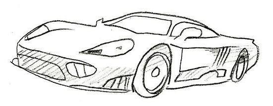 как нарисовать карандашом поэтапно машину