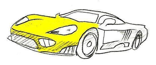 машины нарисованные карандашом фото